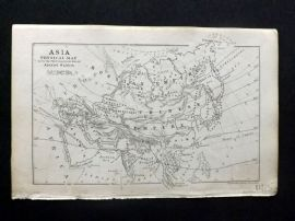 Cornwell & Dower 1849 Antique Map. Asia Physical Map